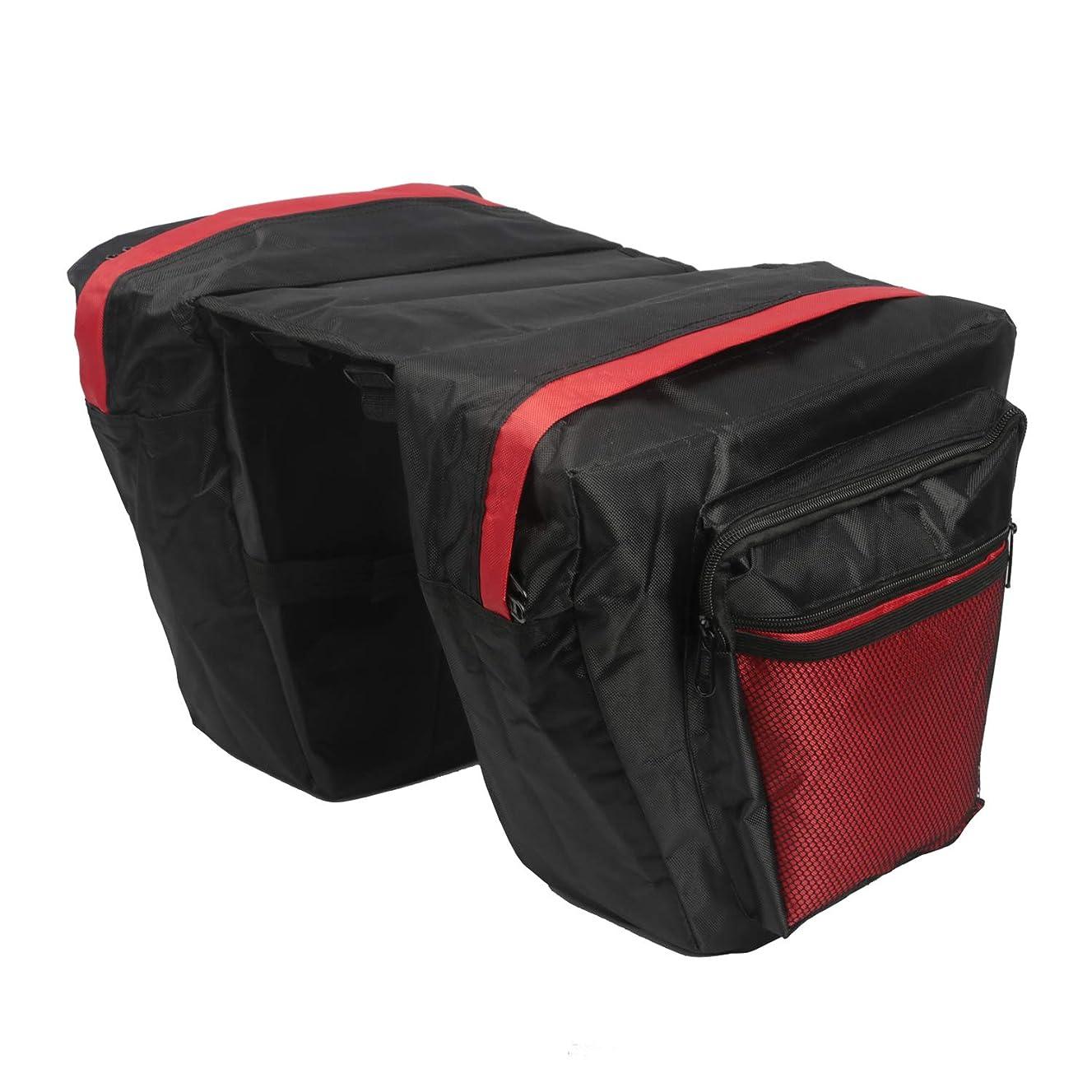 TOURBON Nylon Cycling Bike Bicycle Pannier Rear Rack Bag Double Shopping Storage