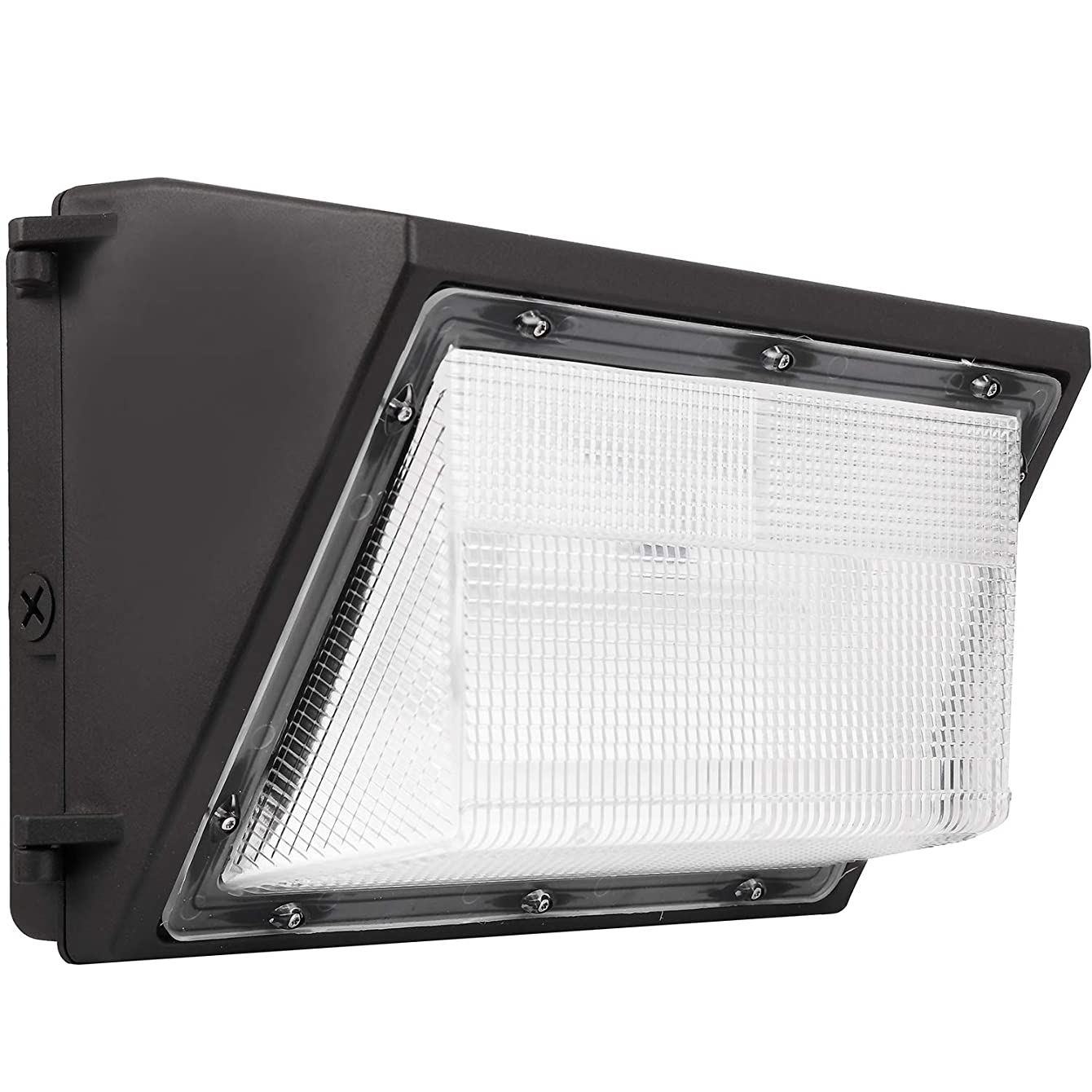 LED Wall Pack with Built In Photocell - 80W 5000K Commercial Outdoor Light Fixture, 9600 Lumen 120LM/W (Out-Door Security Porch Lighting For Industrial Out-Side) 120-277V