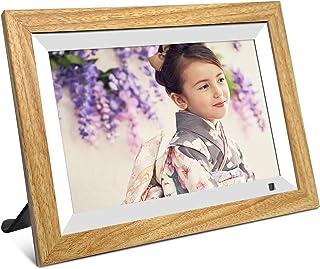 wifi デジタルフォトフレーム 10.1インチ 人感センサー 1280×800 IPS タッチパネル 広角視野 16GBメモリ Micro SDカードの拡張 無料アプリ 写真や動画再生 スライドショー プレゼント用 (日本語説明書)
