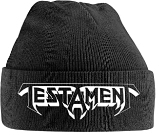 Testament Beanie Hat Band Logo Official Black One Size
