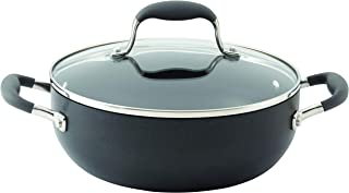 Anolon 83487 Advanced Hard Anodized Nonstick Dish/Casserole Pan with Lid, 3.5 Quart, Gray