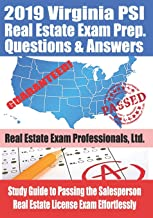 2019 Virginia PSI Real Estate Exam Prep Questions and Answers: Study Guide to Passing the Salesperson Real Estate License Exam Effortlessly