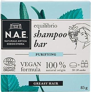 N.A.E. Shampoo Solido per Capelli Grassi Equilibrio, Shampoo Bar Ecologico e Vegano con Estratti di Salvia e Menta Biologi...