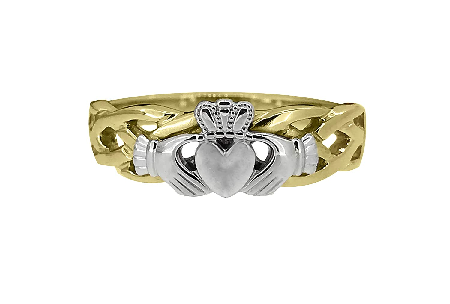 10ct Cheap mail order specialty store Yellow and White Gold Solid Siz Award Ladies Handmade Unity Ring