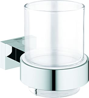GROHE - Essentials Cube Glass w/holder - 40755001