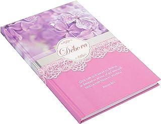 Debora Mujeres De La Biblia Púrpura Floral Papel 10 x 7 Cuaderno De Composicion