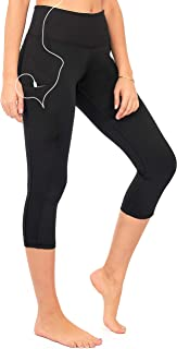 DEAR SPARKLE High Waist Workout Capri Leggings with 3 Pockets for Women. Yoga Athletic Capris for Women (S2)