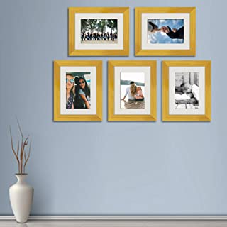 ArtzFolio Wall Photo Frame D514 Golden 6x8inch;Set of 5 PCS with Mount