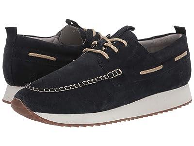 Grenson Boat Style Sneaker (Deep Blue Suede) Men