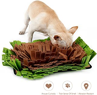 AISITIN Dog Snuffle Mat Feeding Mat, Dog Smell Training Mat Stress Release Nosework Blanket, Durable and Machine Washable Dogs Puzzle Toys, Encourages Natural Foraging Skills