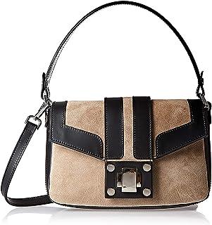 حقيبة طويلة تمر بالجسم من الجلد للنساء من فيتوريا نابولي، لون بيج - Fa1021