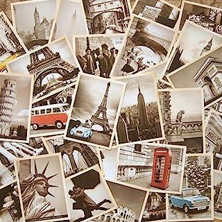 64 Pcs 2 set Vintage Retro Old Travel Postcards for Worth Collecting, Collectable Vintage Postcards Bulk Pack