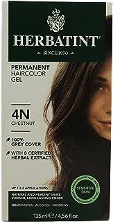 Herbatint Permanent Herbal Hair Color Gel, Chestnut, 4N, 2 pk