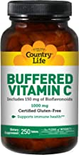 Country Life Vitamin C Buffered with Bioflavonoids, 1000mg (Supports Immune Health) 250 Tablets