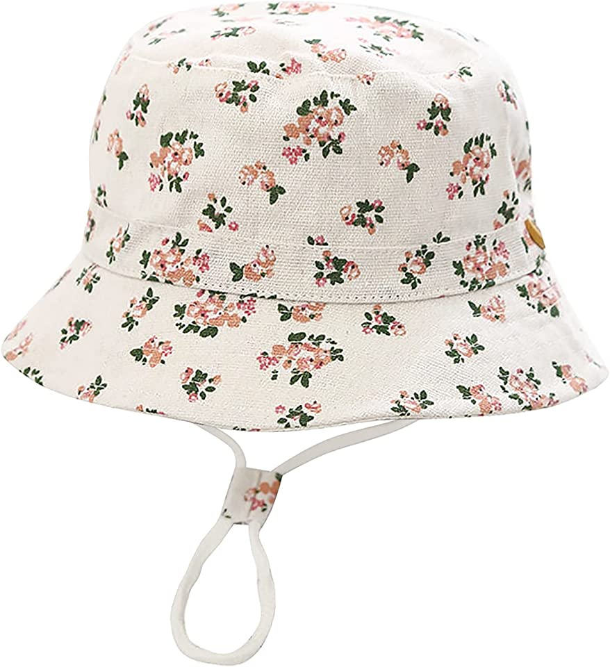 Baby Toddler Kids Bucket Sun Hat Cute Print Summer Outdoor Infant Beach Hat for Boys Girls