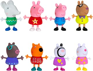 Peppa Pig and Friends Perfect Day – 8 Figure Pack, Includes Character Toy Figures Like George, Freddy Fox, Molly Mole, Edm...