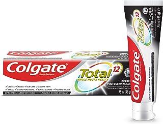 معجون اسنان توتال بالفحم لتنظيف عميق يدوم 12 ساعة من كولجيت، 75 مل