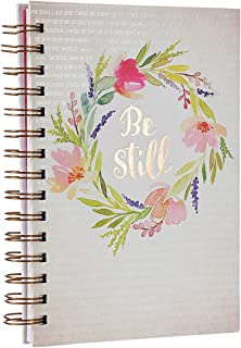 Be Still Watercolor Hardcover Large Wirebound Journal - Psalm 46:10