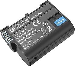 EN-EL15 EN EL15a Battery Rechargeable, LP Charger Compatible with Nikon D7500, D7200, D7100, D7000, D850, D750, D500, D810...