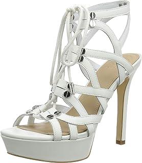 a5d3df14 Guess Lelani (Sandal)/Leathe, Zapatos de tacón con Punta Abierta para Mujer