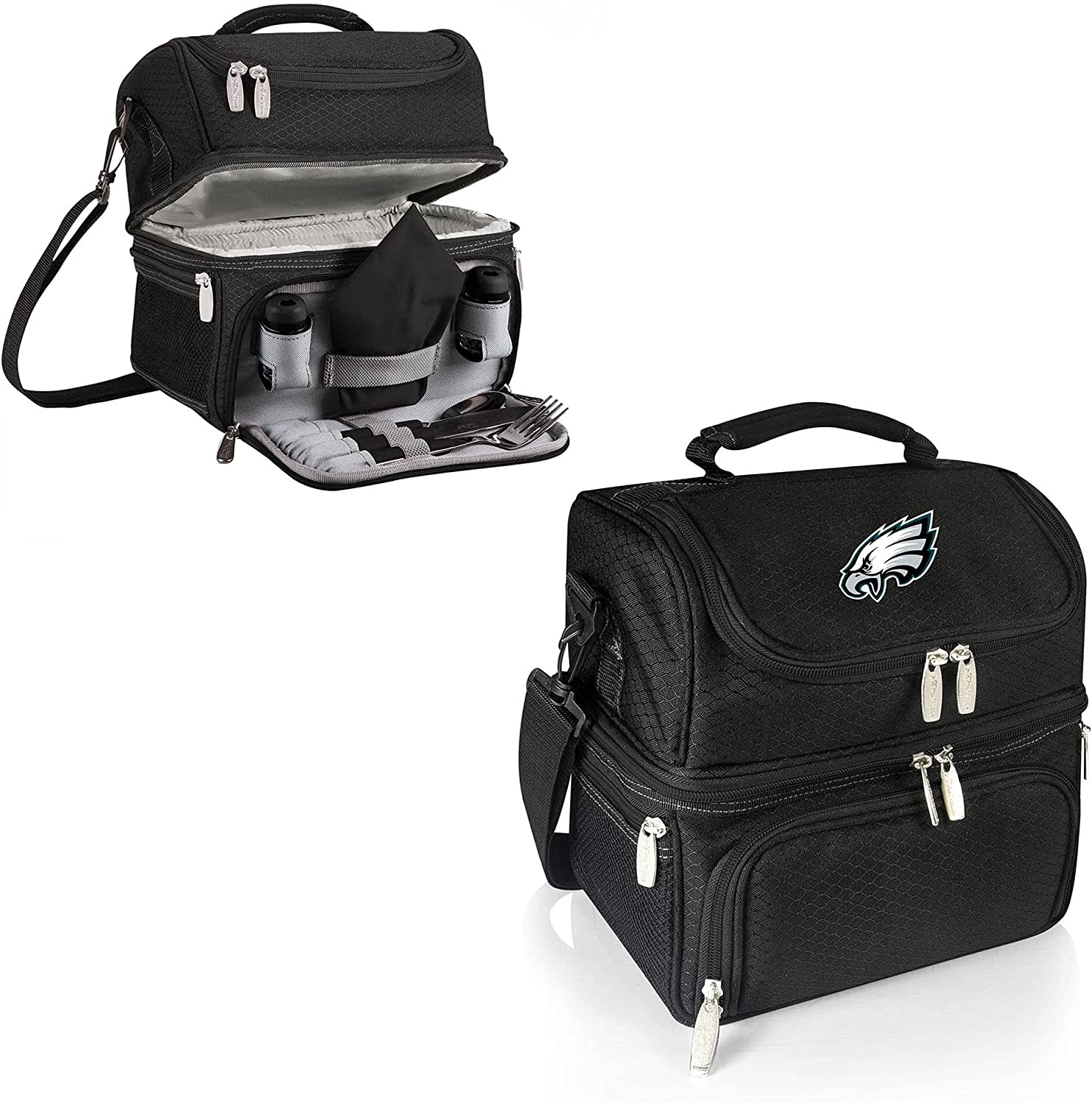 PICNIC TIME Black Store Philadelphia Tote Eagles Pranzo NEW before selling ☆ Lunch