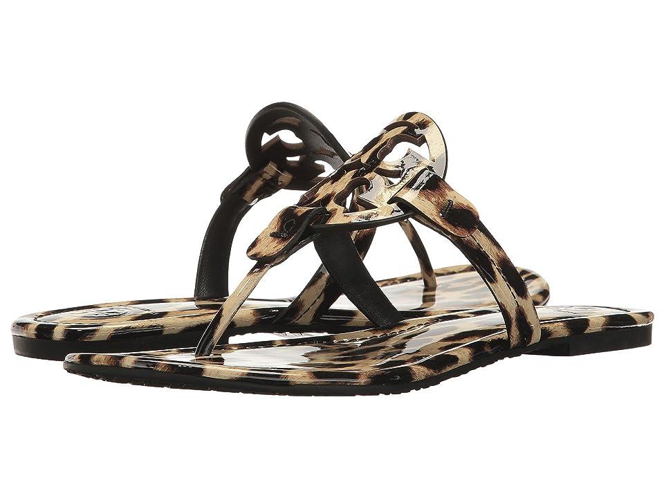 Tory Burch Miller Flip Flop Sandal (Natural Leopard) Women