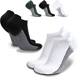 Mens Sport Athletic Running Socks Ankle No Show Low Cut Socks Comfort Cushioned Tab Compression Socks for Women/Men
