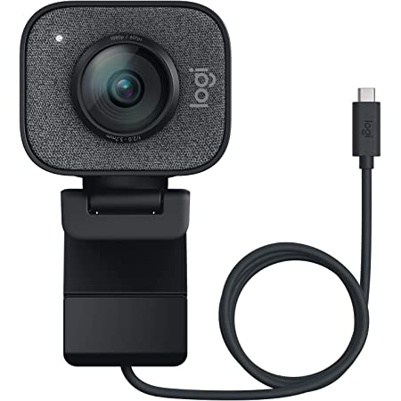 Logitech StreamCam, 1080P HD 60fps Streaming Webcam with USB-C and Built-in Microphone, Graphite
