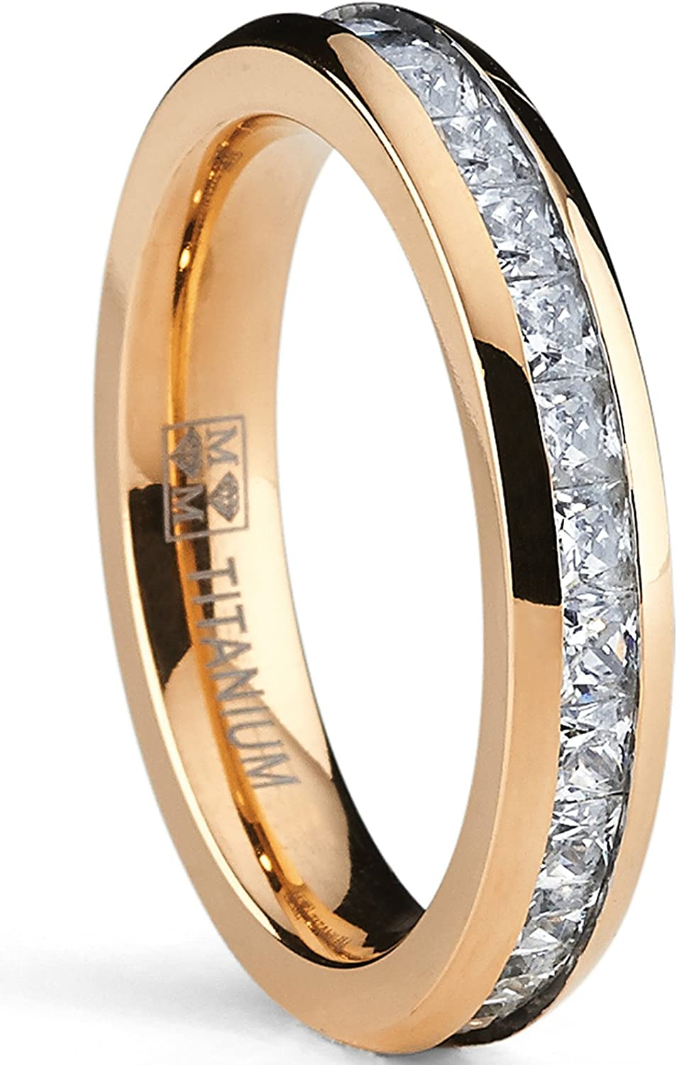 Metal Masters Co. 4MM Rose Princess Plated NEW before selling Eternity Latest item Women's Cut