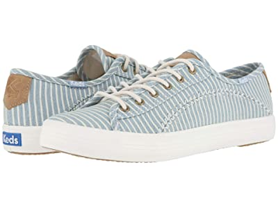 Keds Kickstart Pennant (Blue Denim Ticking Stripe) Women