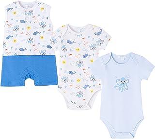 AMOMI Body y Pelele Bebé Niño Conjunto de Pijama Y Body Bebé Niño Manga Corta 100% Algodón 3-24 Meses