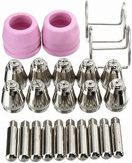 Farmunion 24PCS SG-55 AG-60 WSD-60 Plasma Cutter Cutting Torch Tip Nozzles Consumables Kit