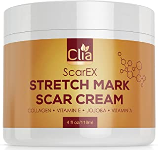 Clia Stretch Mark Cream 4oz - Helps Remove and Prevent New And Old Stretch Marks and Scars, best Formula For Pregnant And Nursing Moms