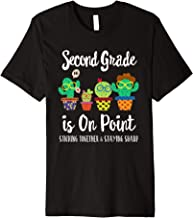 2nd Grade is on point, 1st day of school cactus teacher gift Premium T-Shirt