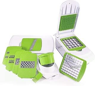 Vegetable Kitchen Push Down Lid Chopper Dicer, Mandolin Slicer Julienne Grater, Blade Attachments, Fruit Food Cheese Safety