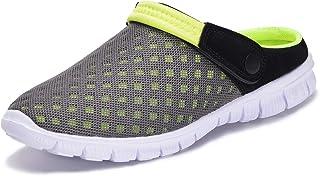 Men's Women's Garden Clogs Mesh Slippers Sandals Summer Beach Shoes Lightweight Outdoor Walking...