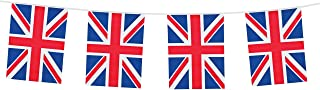 Toyland 10 Meter Union Jack PVC Bunting 20 Flags Perfect for British Celebrations