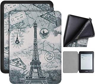 Capa Kindle Paperwhite 10ª geração à prova d'água - Função Liga/Desliga - Fechamento magnético - Silicone - Paris