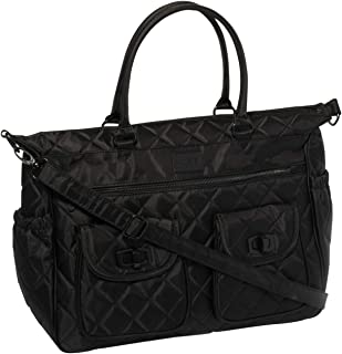 Colette Hayman - Black Quilted Baby Bag