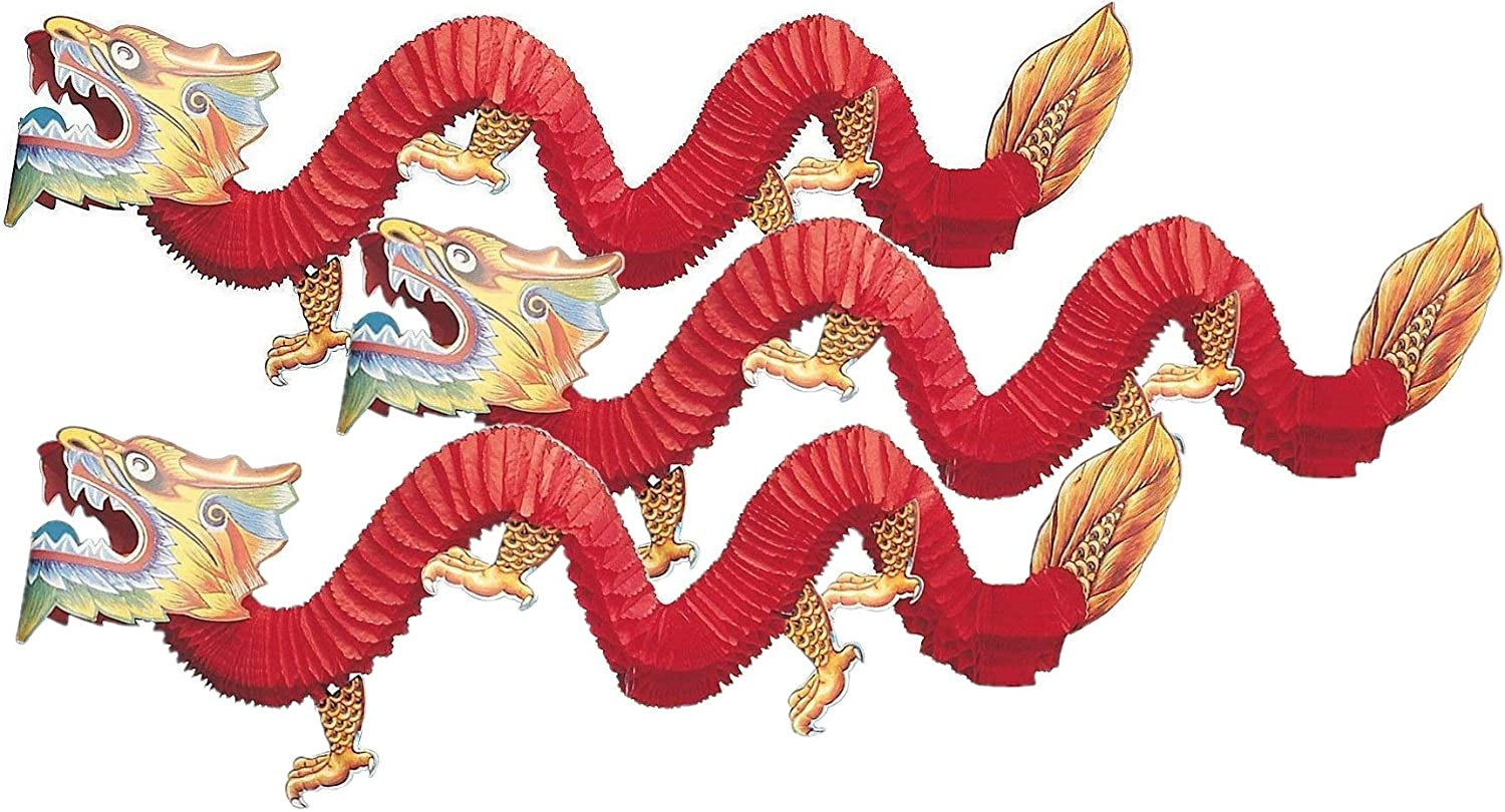 Fun Express Chinese Paper Dragon Classic High quality new Decoration Count 3
