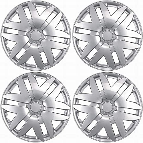 """Hub-caps for 04-07 Ford Freestar (Pack of 4) Wheel Covers 16"""" inch Snap On Silver"""