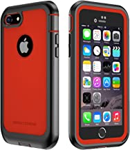 IMPACTSTRONG iPhone 7/8 Case, Ultra Protective Case with Built-in Clear Screen Protector Full Body Cover for iPhone 7 2016 /iPhone 8 2017 (Red)