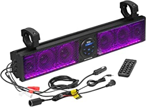 $200 » BOSS Audio Systems BRT26RGB ATV UTV Sound Bar System - 26 Inches Wide, IPX5 Rated Weatherproof, Bluetooth Audio, Amplified...