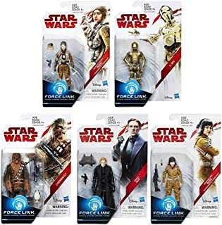 Star Wars: The Last Jedi Teal 3 3/4-Inch Action Figures Wave 1 Set of 5 (Chewbacca, C-3PO, Rose, General Hux & Paige)