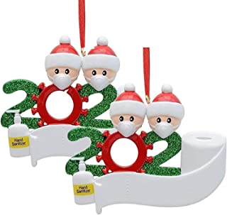 Best BERCOL 2 Pack 2020 Christmas Ornament, Handmade Christmas Tree Decor Ornaments Christmas Party Decoration Gift 2 Family Members Christmas Tree Decoration Indoor for The Home. Review