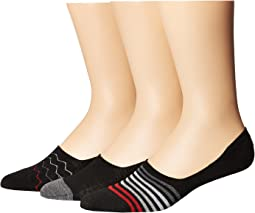 Steve Madden - 3-Pack Shoe Liners - Stripes