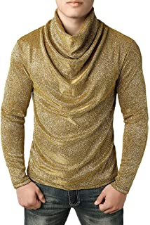 NPRADLA Fashion Casual Handsome Spring, Autumn,Winter Men Hoodies Sweatshirt Solid Cowl Neck Blouse Long Sleeve Fit Pollov...