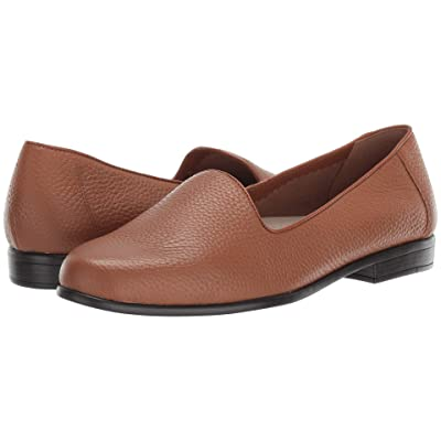 Trotters Liz Tumbled (Tan Very Soft Tumbled Leather) Women
