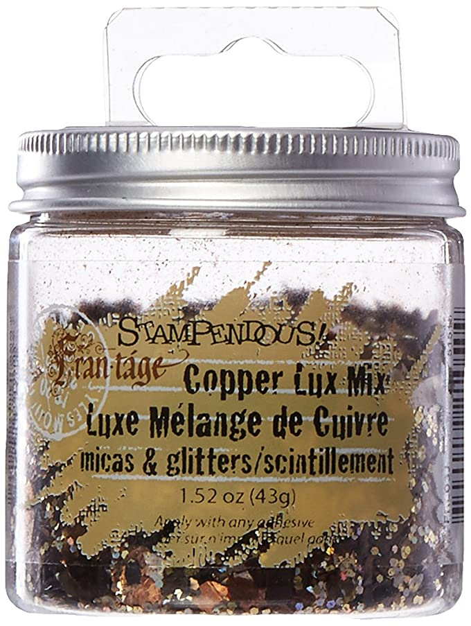 STAMPENDOUS Micas & Glitters Lux Mix with Hang Tap, 1.5 oz, Copper