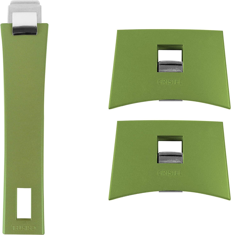 Cristel Mutine SPPLMAVT Set of Handles, Green